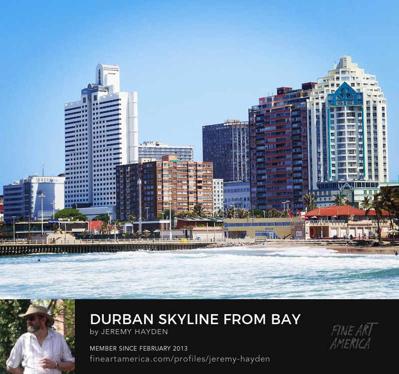 Art Prints - Durban Skyline from Bay of Plenty