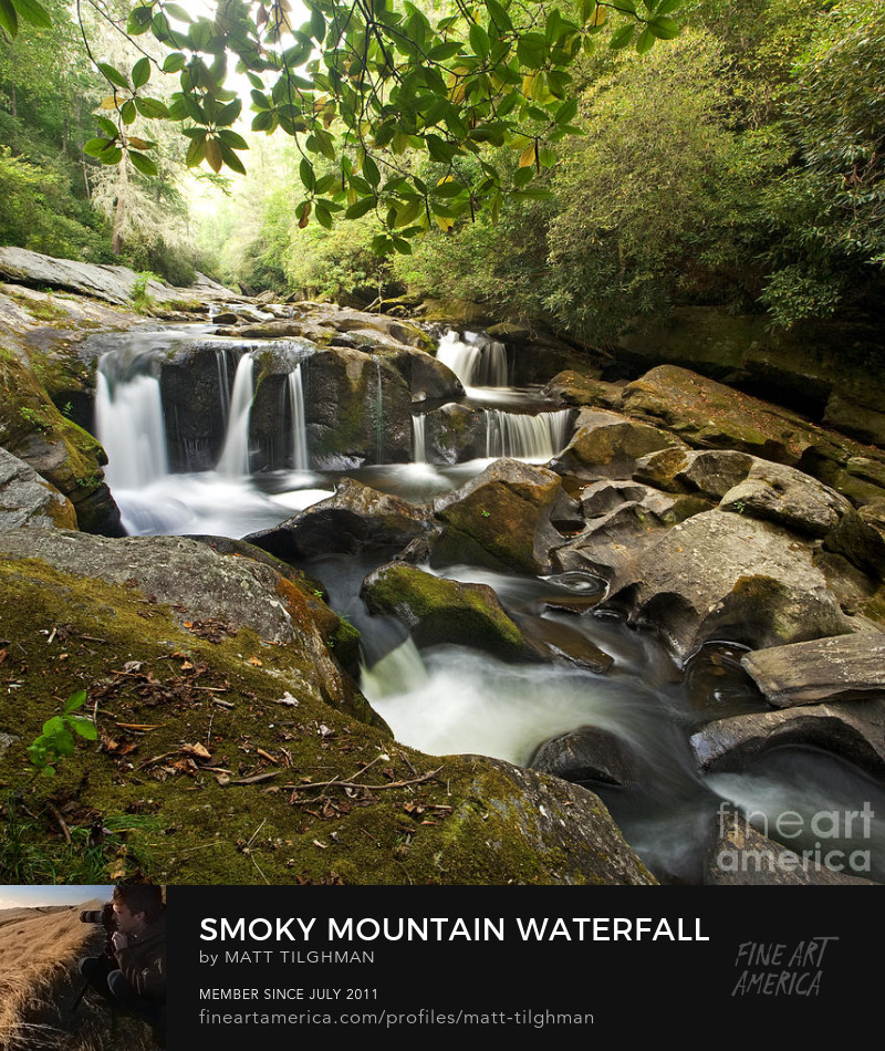 Smoky Mountain Waterfall Chattooga River Art Print