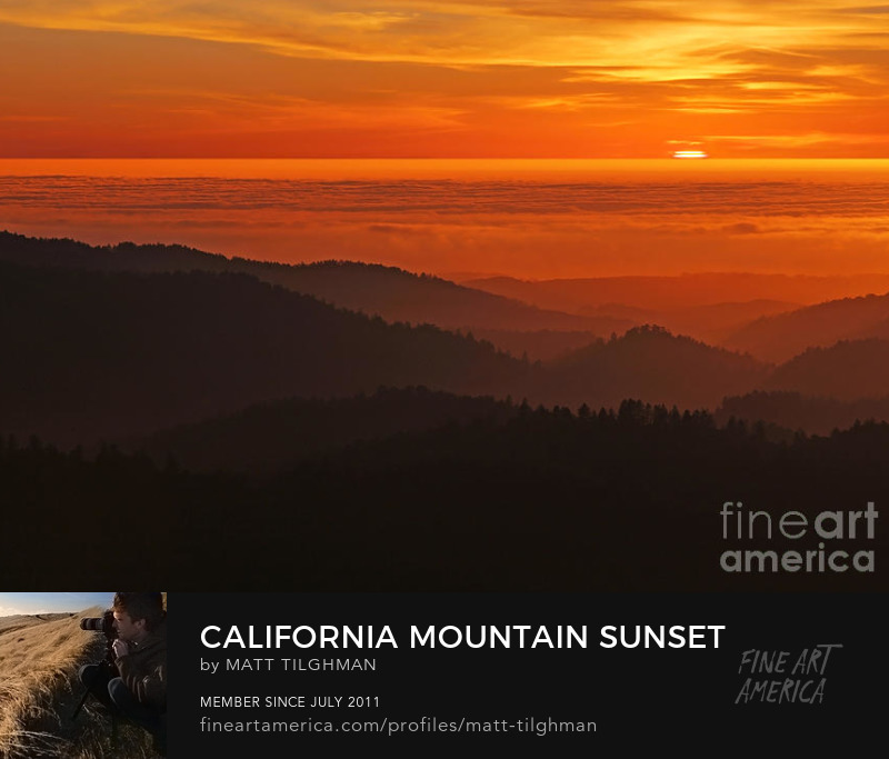 Santa Cruz Mountains California Photography Prints