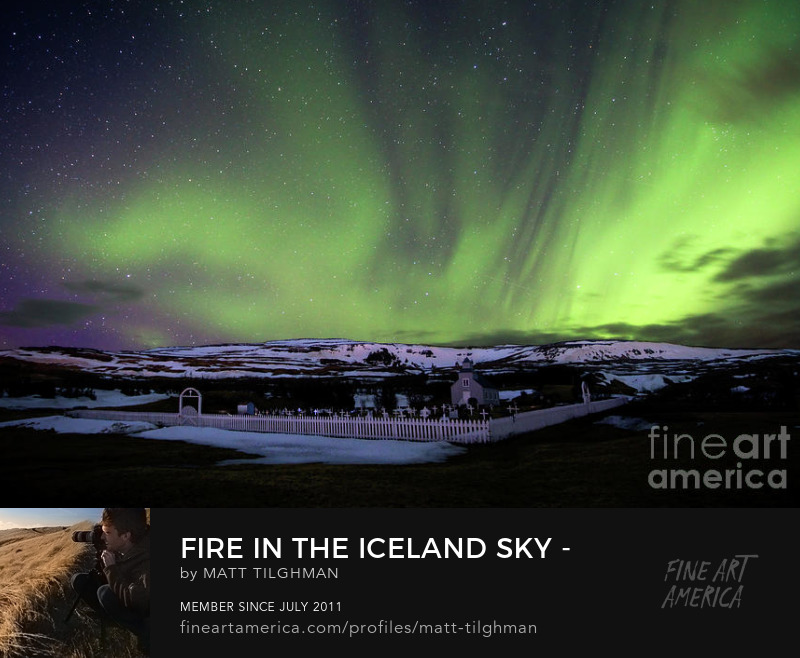 Iceland Aurora Borealis Art Prints