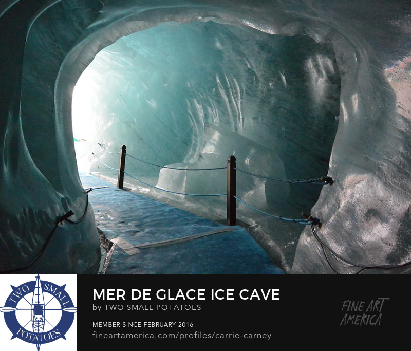 Mer de Glace Ice Cave print for sale on Fine Art America