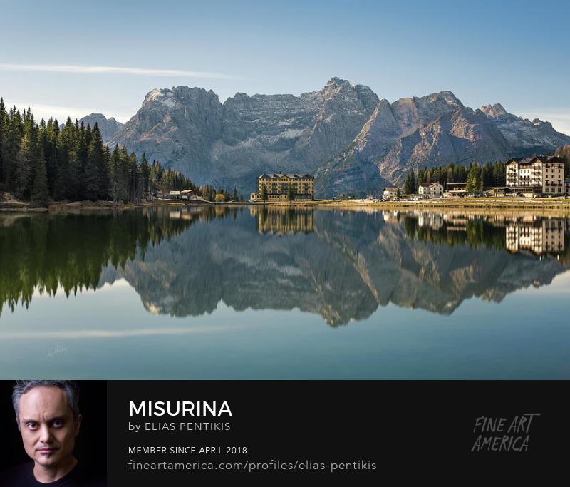 Misurina lake in the Dolomites of Italy. By Elias Pentikis.