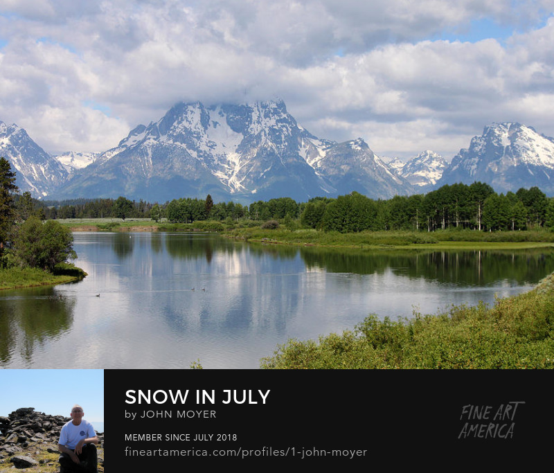 Teton Mountains in Wyoming on July 8, 2011