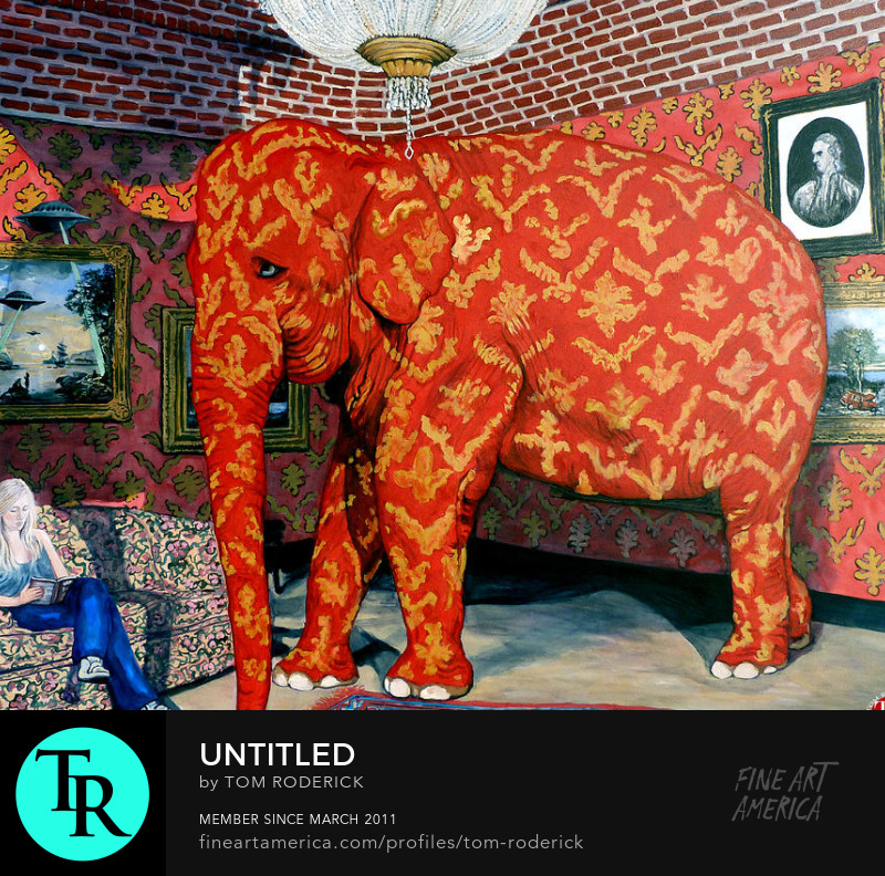 What Elephant painting by Boulder artist Tom Roderick