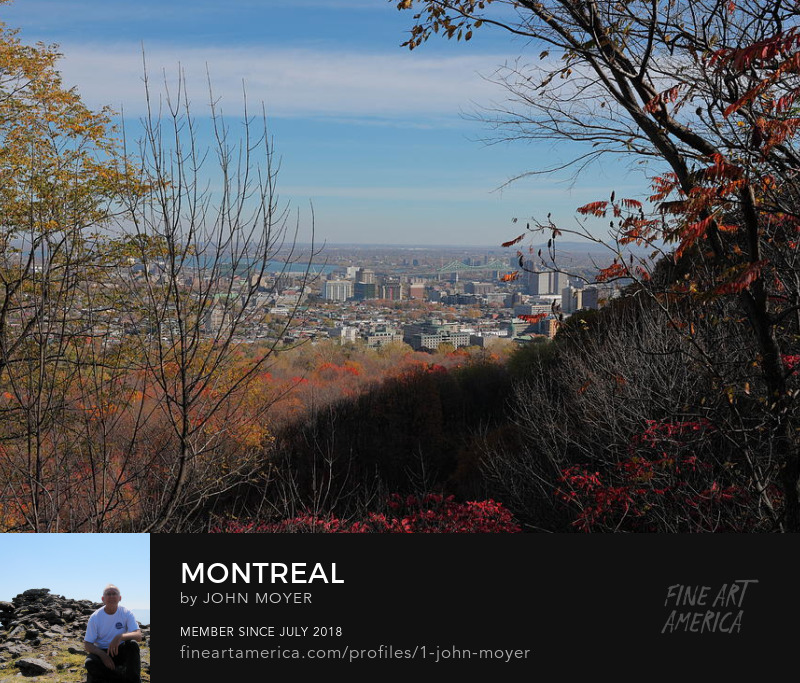 This is the view of Montreal, Quebec, Canada from Mount Royal on October 28, 2017.