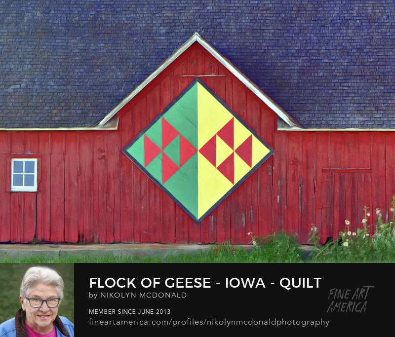 red barn with quilt block in iowa by nikolyn mcdonald
