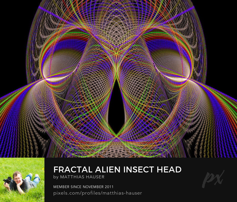 Alien Fractal Insect Art Prints