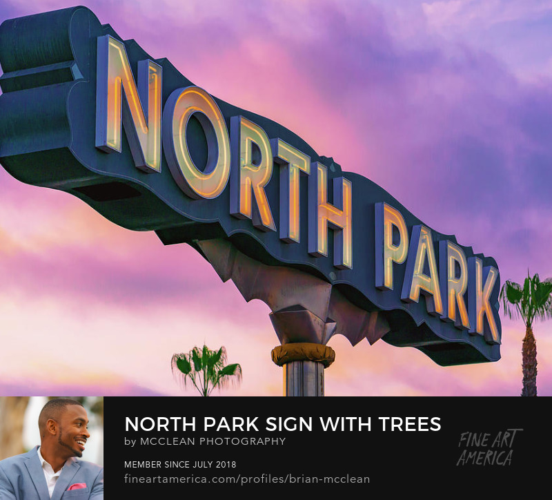 North Park, San Diego Sign Wall Art Print by McClean Photography