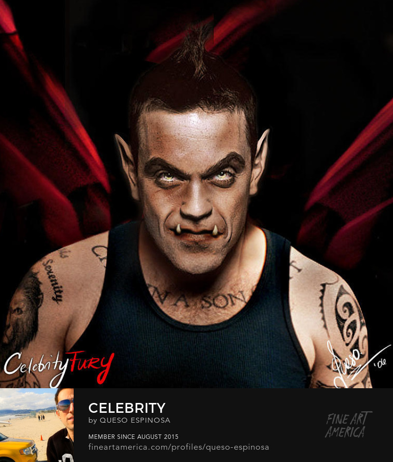 Photography Prints Robbie Williams Robbie Williams displayartwork