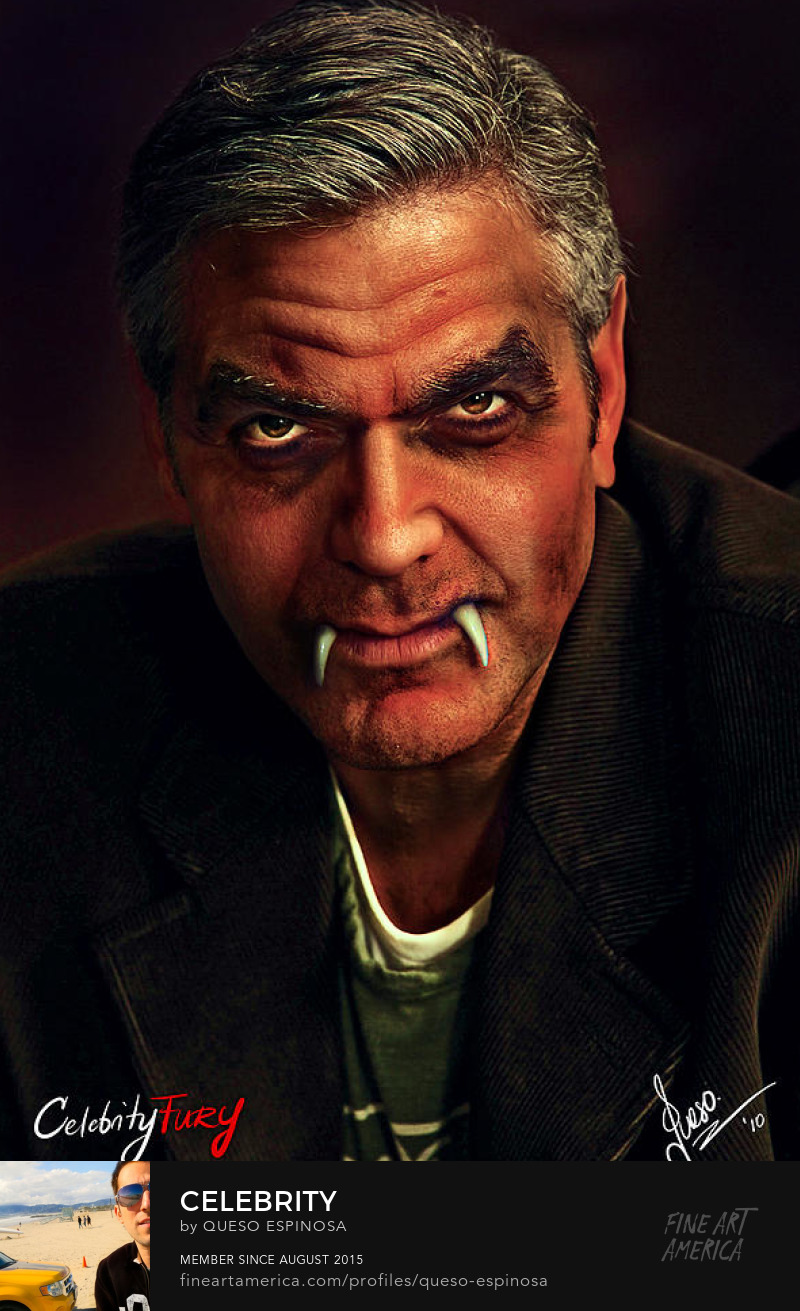 Sell Art Online George Clooney George Clooney displayartwork