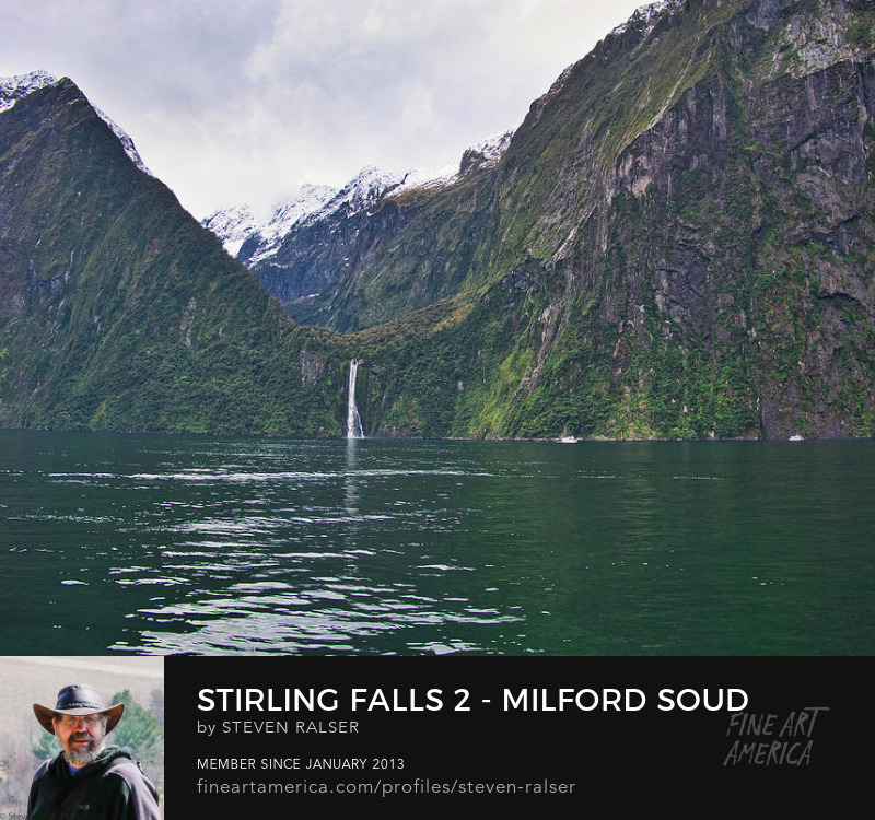 Stirling Falls Milford Sound South Island New Zealand