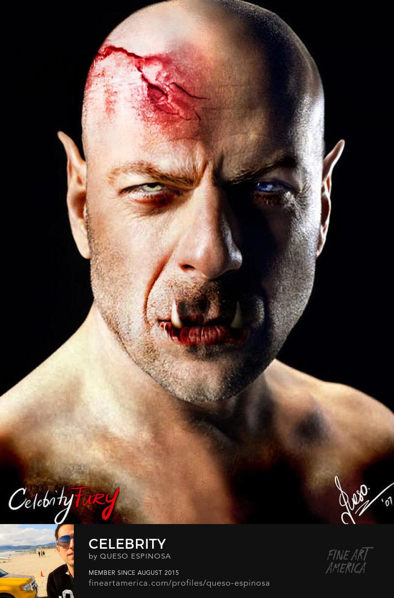 Sell Art Online Bruce Willis Bruce Willis displayartwork