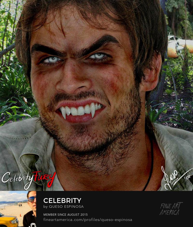 Sell Art Online Ian Somerhalder Ian Somerhalder displayartwork