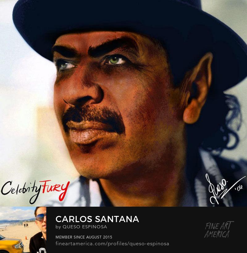 Art Prints Carlos Santana Carlos Santana displayartwork