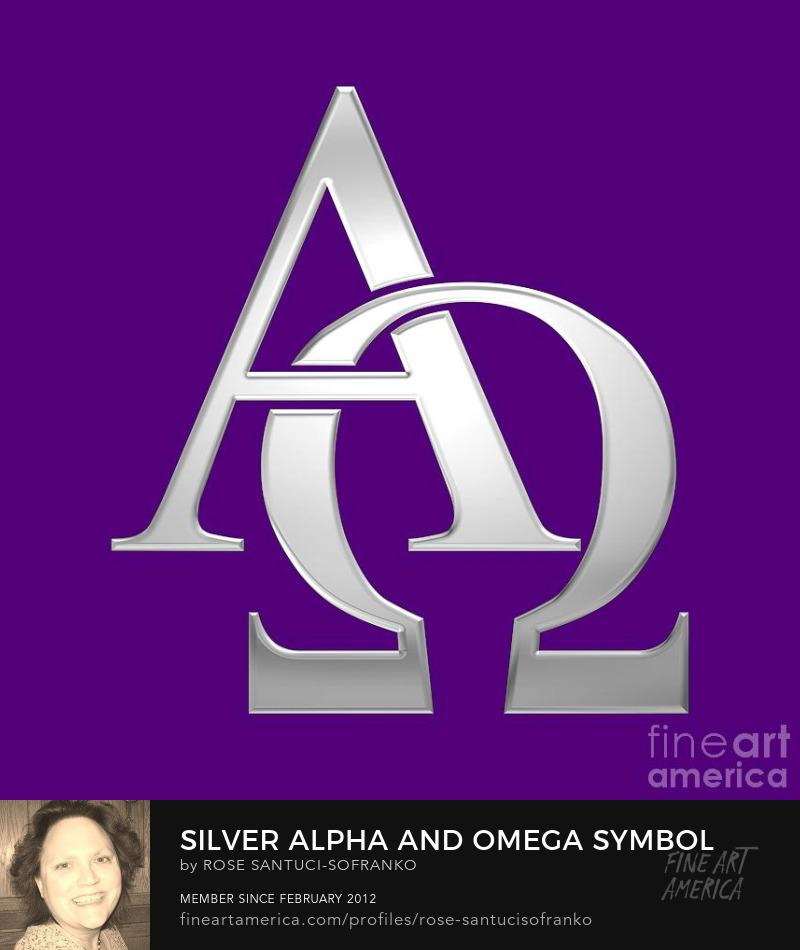 Silver Alpha and Omega Symbol  Buy Art Online
