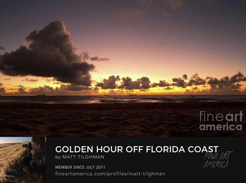 Golden Hour Florida Coast Photography Prints