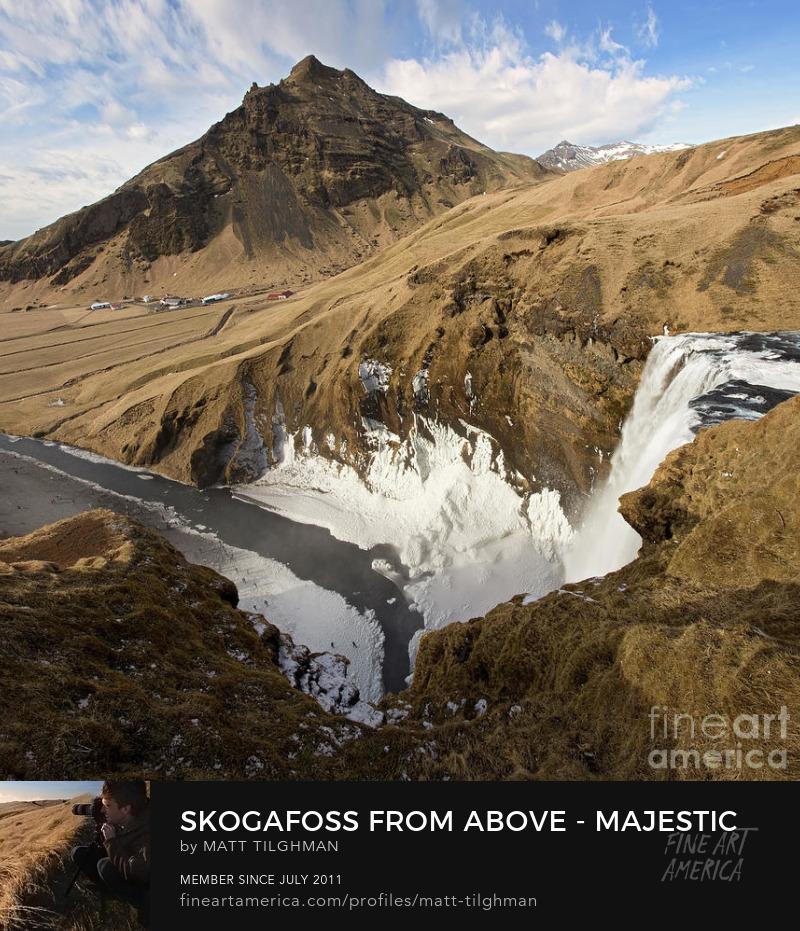 Skogafoss Waterfall Iceland Photography Prints