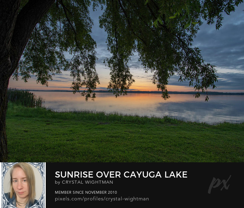 A landscape of Lake Cayuga finger lakes by Crystal Wightman.