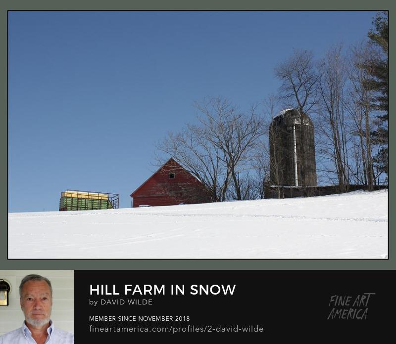 Hill farm in winter