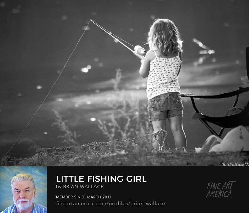 Little Fishing Girl by Brian Wallace