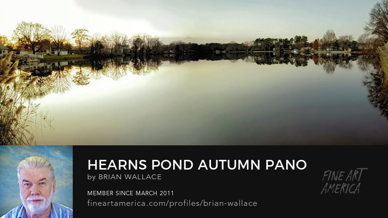 Hearns Pond Autumn Pano by Brian Wallace