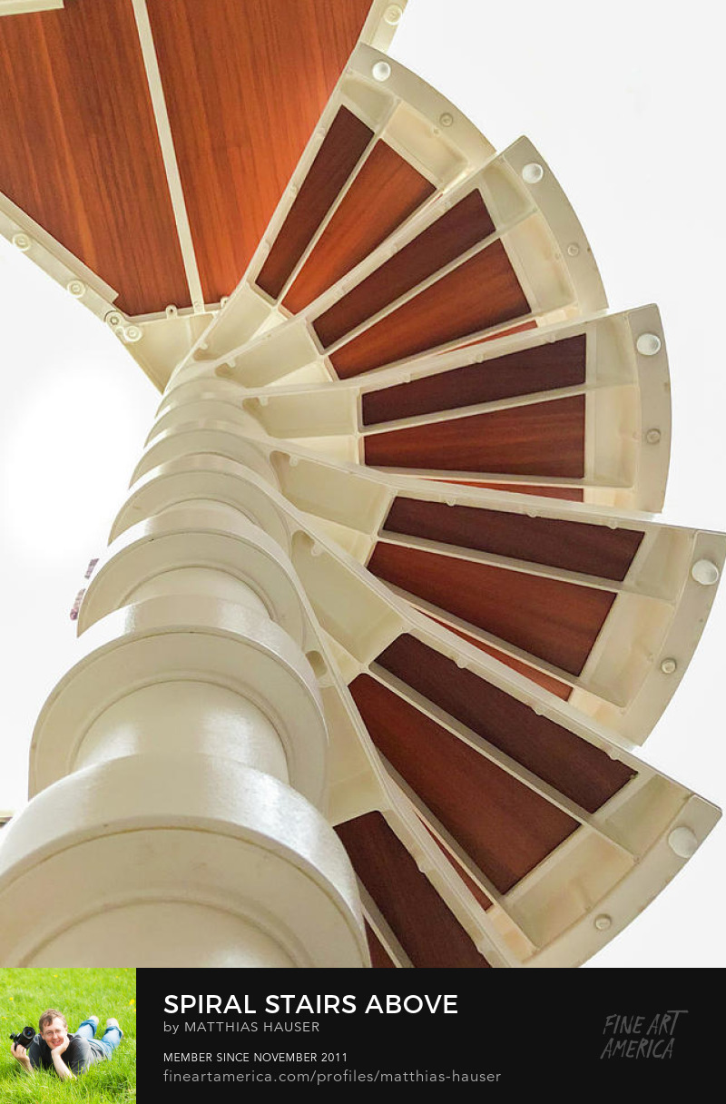 Spiral Stairs Photography Print