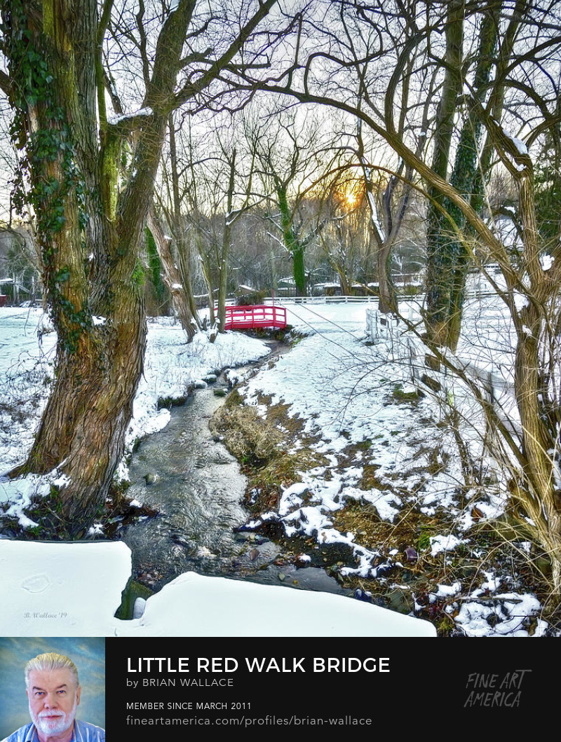 Little Red Walk Bridge by Brian Wallace
