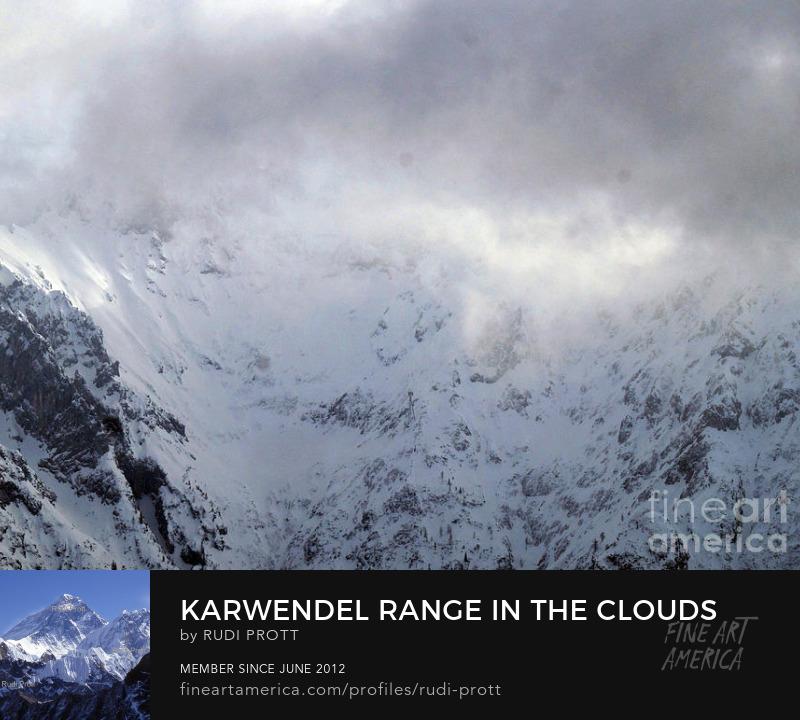 Karwendel range in the clouds by Rudi Prott