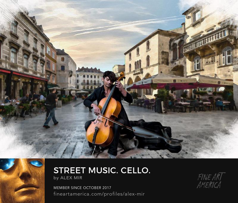 Cello Wall Art