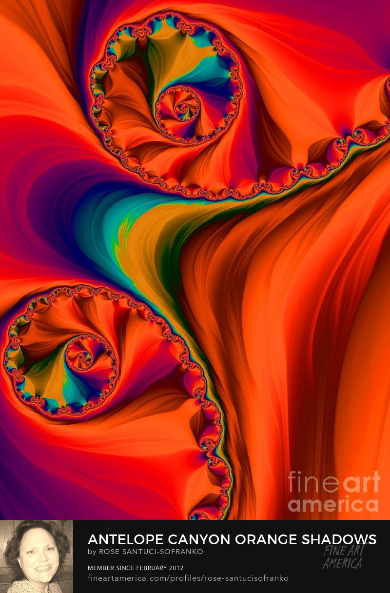 Antelope Canyon Orange Shadows Fractal Abstract Art Online