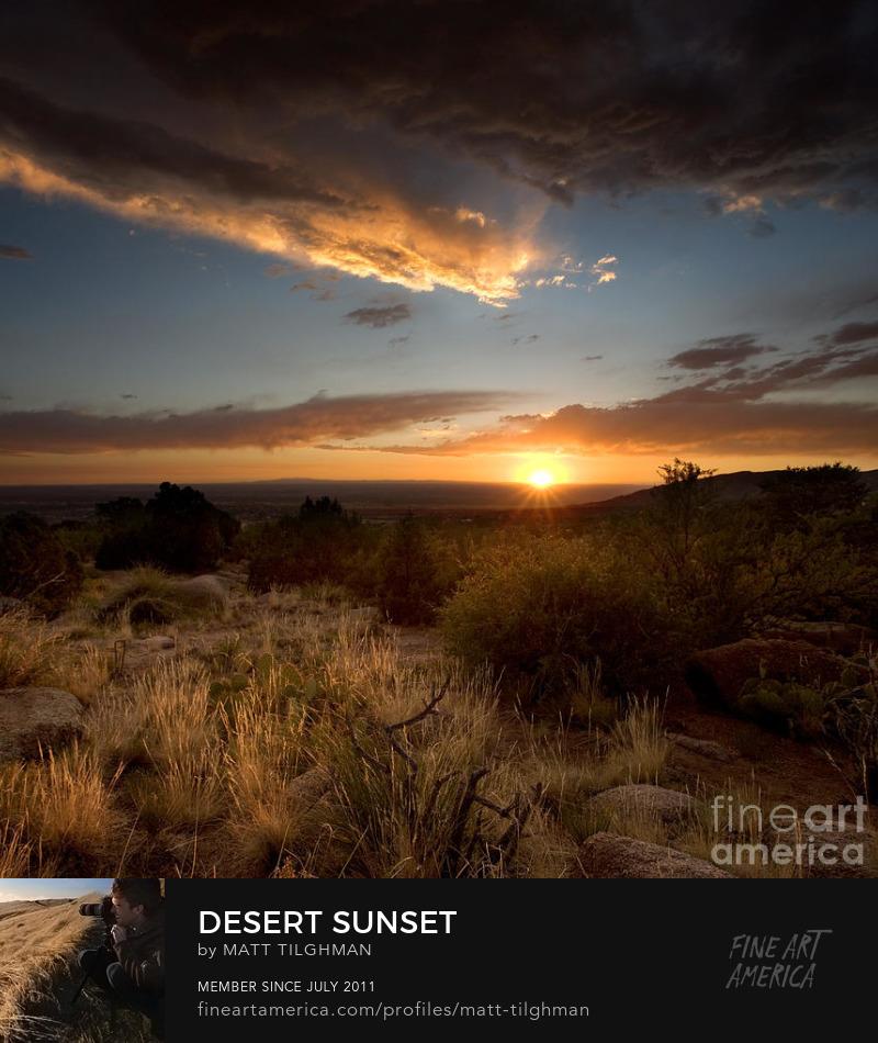 New Mexico Desert Sunset Photography Prints