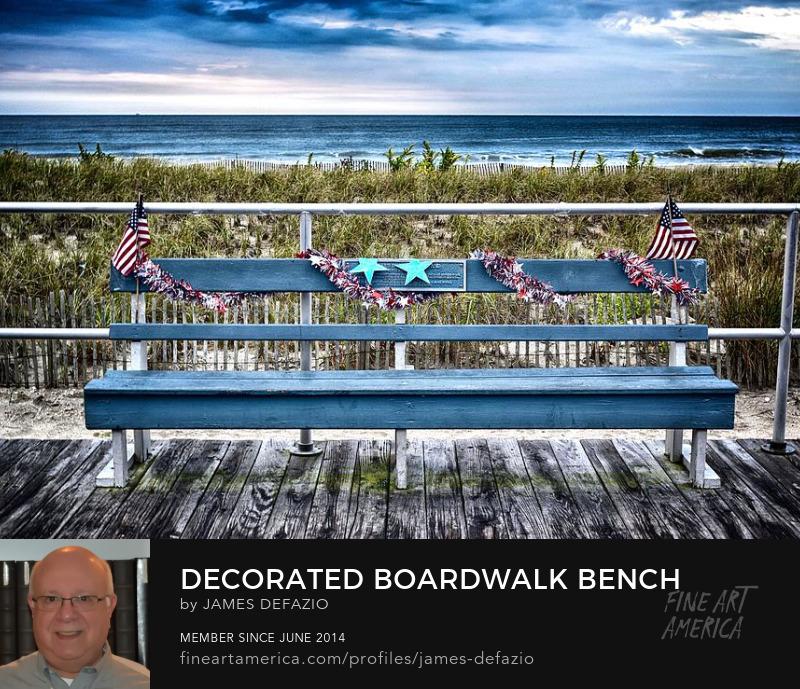 Decorated Boardwalk Bench