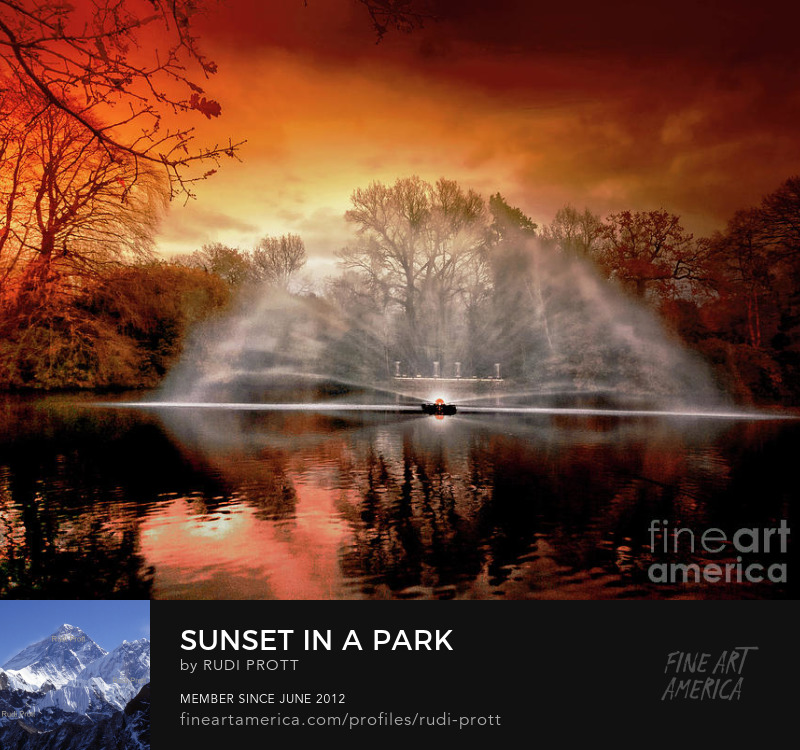 sunset in the park by Rudi Prott