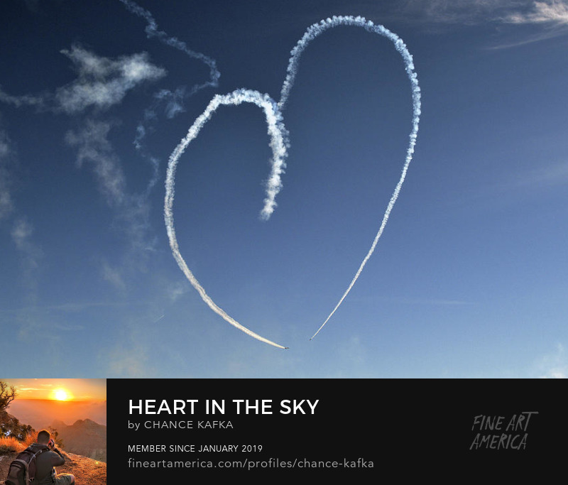 Heart in the sky Photography Prints