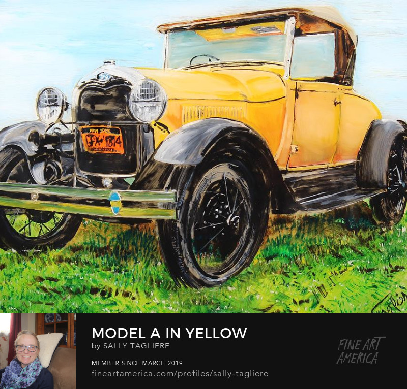 Sell Art Online, Ford model A painting