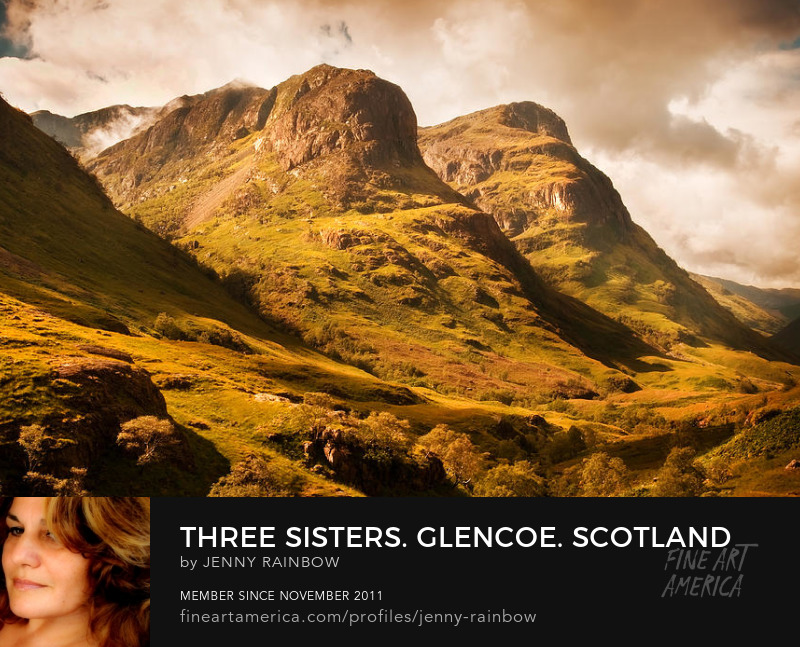 Three Sisters. Glencoe. Scotland by Jenny Rainbow