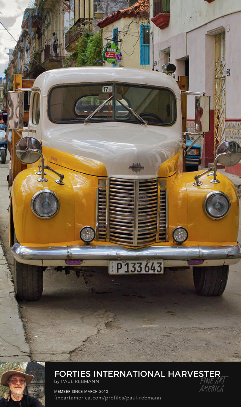 View online purchase options for Forties International Harvester Truck by Paul Rebmann