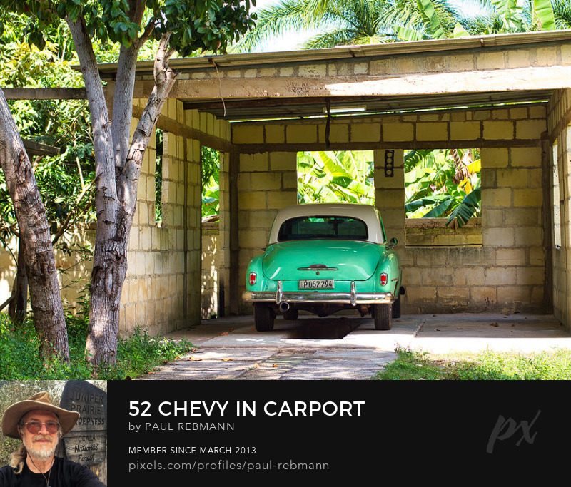 View online purchase options for 52 Chevy in Carport by Paul Rebmann