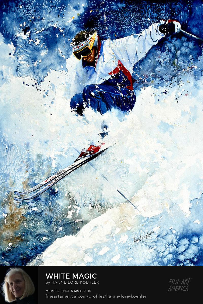 Skier Painting
