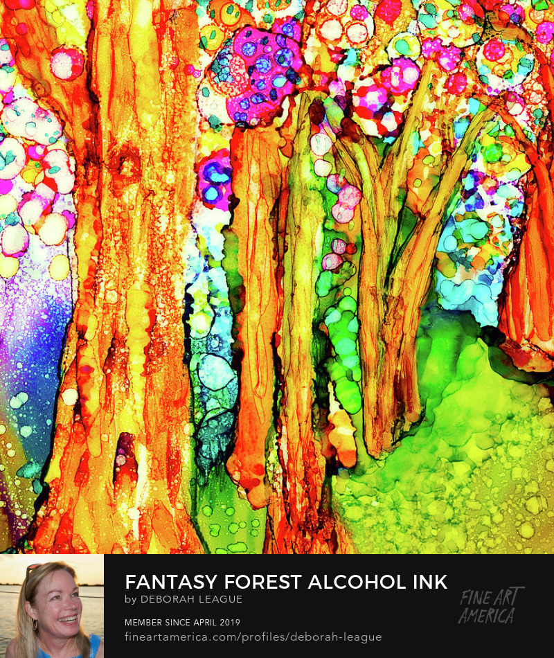 colorful alcohol ink painting