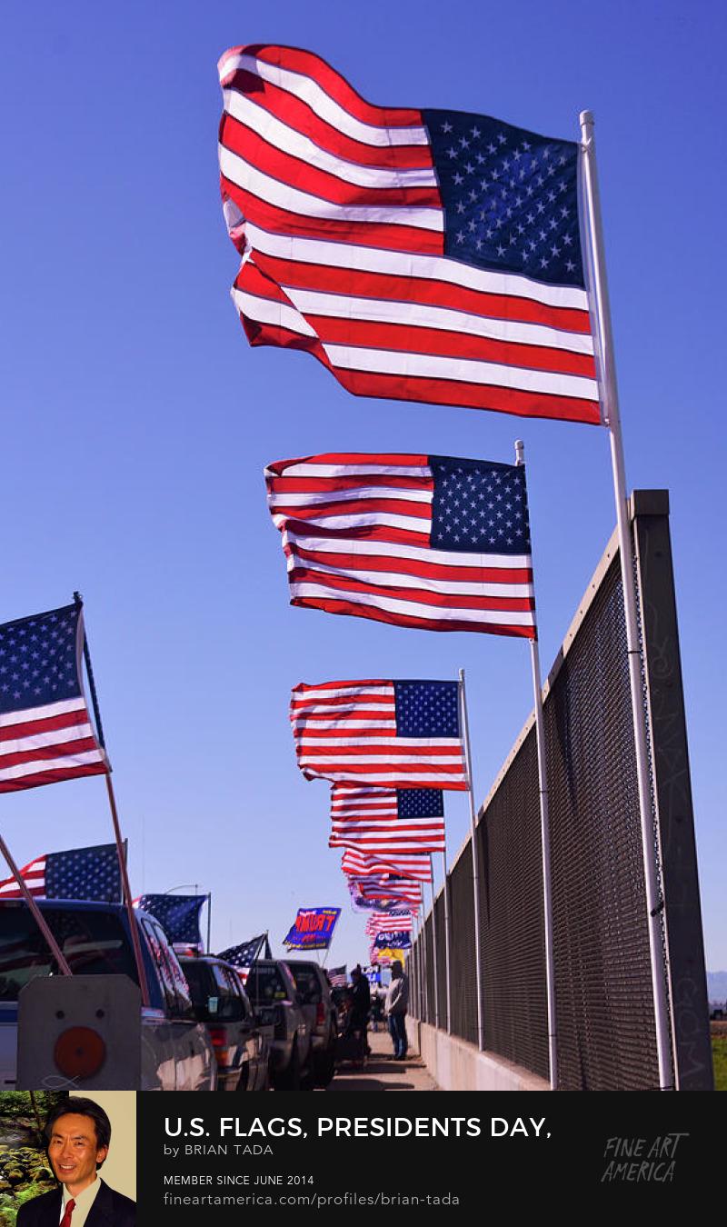 US Flags PresidentsDay by Brian Tada. Glory to God! www.PropheticPortraits.net