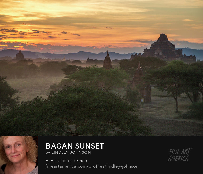bagan sunset by lindley johnson