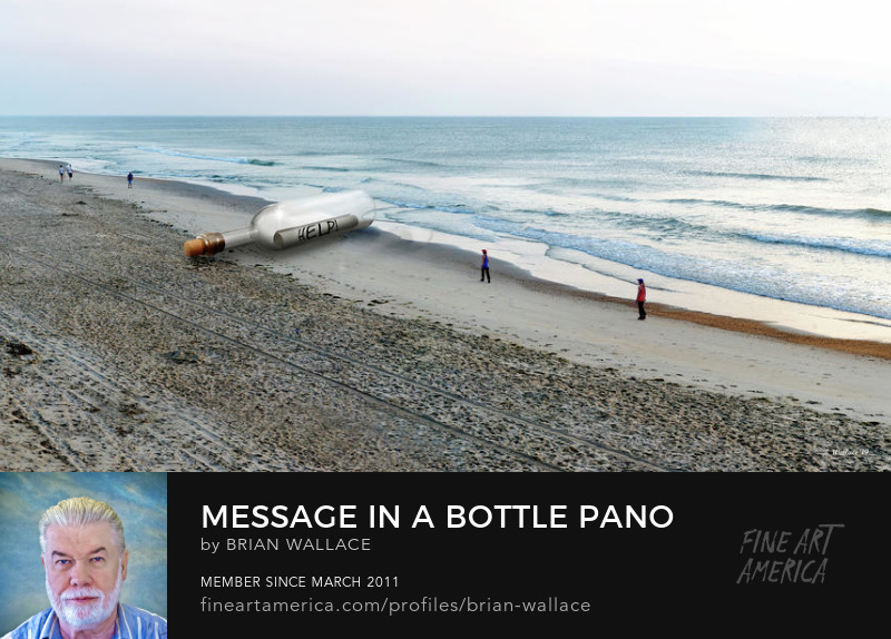 Message In A Bottle Pano by Brian Wallace