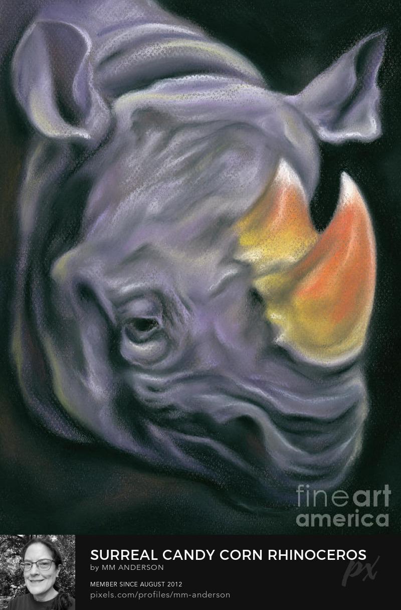 Halloween Rhinoceros Art Prints