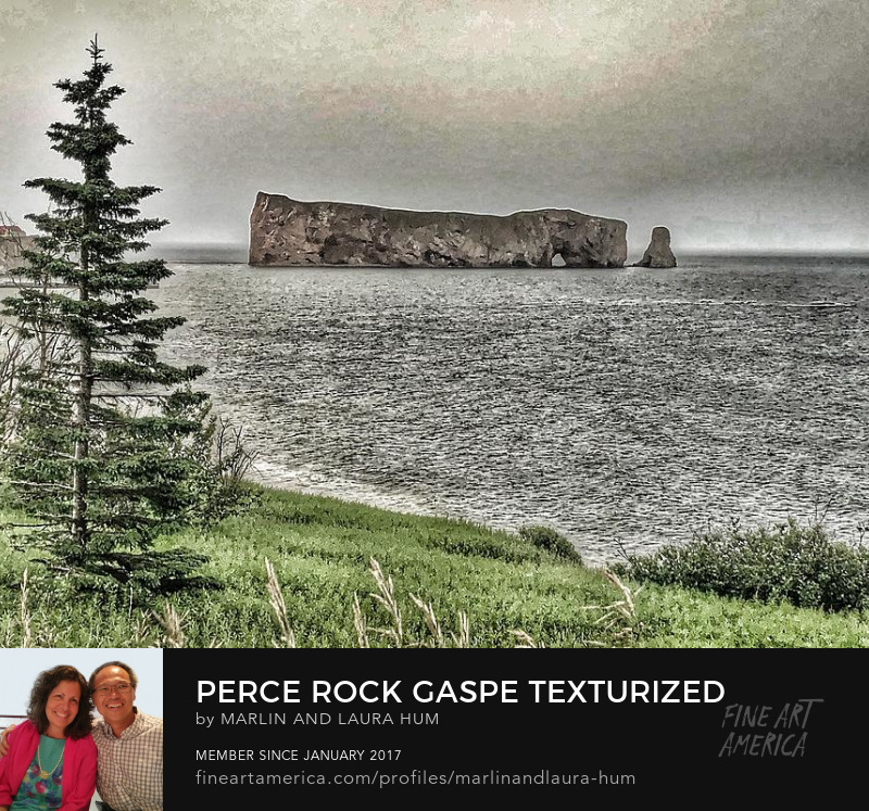 Perce Rock Gaspe Texturized by Marlin and Laura Hum