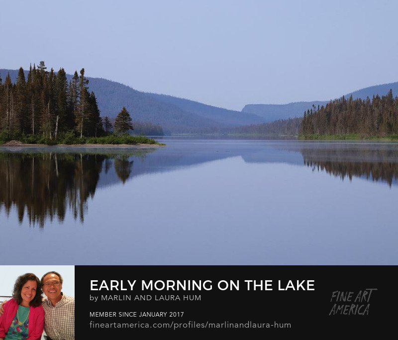 Early Morning on the Lake Reflections Marlin and Laura Hum
