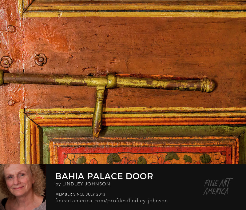 bahia palace door by lindley johnson