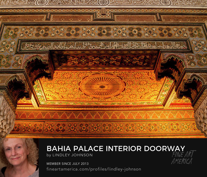 bahia palace interior doorway by lindley johnson