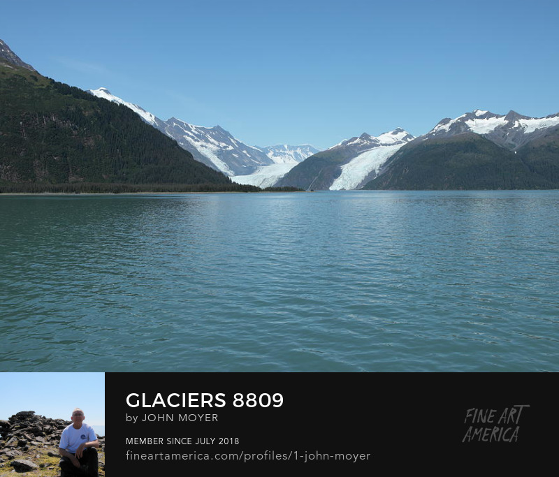 Glacier in Chugach National Forest near Whittier, Alaska, August 7, 2019