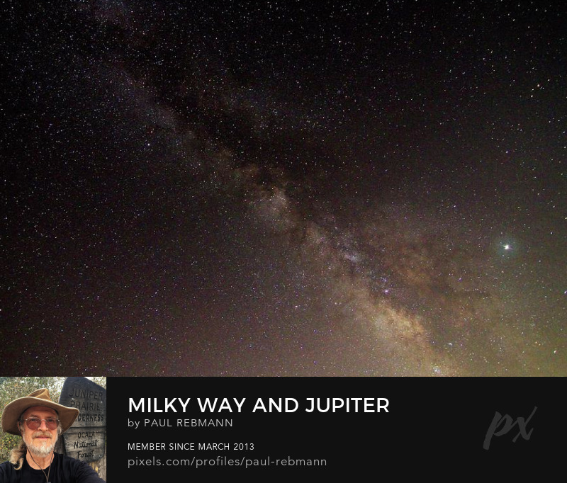 View online purchase options for Milky Way and Jupiter by Paul Rebmann